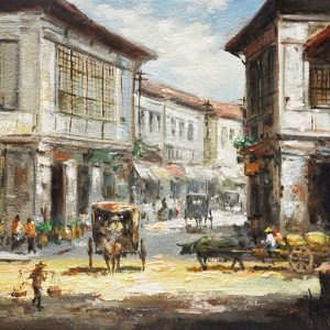 Code: 19745 Title: Old Vigan House Size: 12x16in Medium: Oil on Canvas