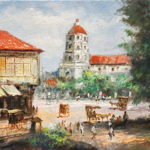 Code: 19747 Title: Sta. Cruz Church Size: 12x16in Medium: Oil on Canvas