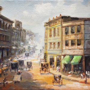 Code: 19748 Title: Rosario st. Manila Size: 12x16in Medium: Oil on Canvas