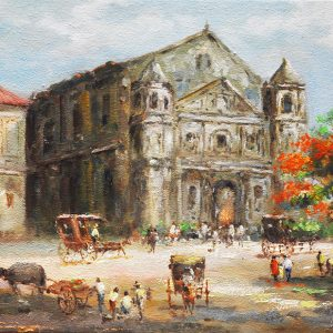 Code: 19749 Title: Malate Church Size: 12x16in Medium: Oil on Canvas