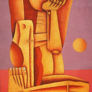Code: 19762 Title: Seated Figure Size: 36x24in Medium: Oil on Canvas