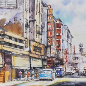 Code: 19794 Title: Lyric Theatre Size: 12x18in Medium: Watercolor on Paper