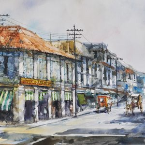 Code: 19795 Title: Avenida, Rizal Size: 12x18in Medium: Watercolor on Paper