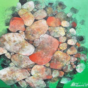 Code: 19818 Title: Rock series Size: 48x48in Medium: Mixed Media