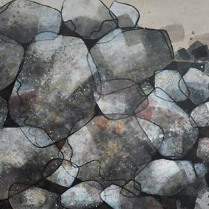 Code: 19857 Title: Rock Series Size: 38x72in Medium: Acrylic on Canvas