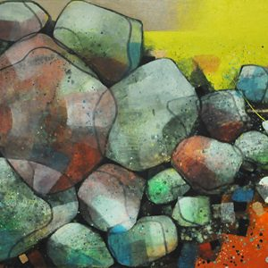 Code: 19859 Title: Rock Series Size: 24x48in Medium: Acrylic on Canvas