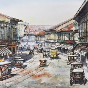 Code: 19902 Title: Escolta Manila Size: 21.5x29in Medium: Watercolor on Paper