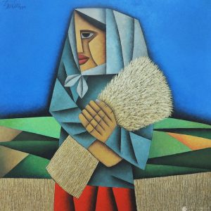Code: 19952 Title: Rice Harvest Size: 30x30 in Medium: Oil on Canvas