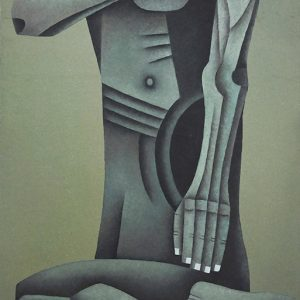 Code: 19953 Title: Seated Figure Size: 48x28 in Medium: Oil on Canvas