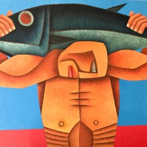Code: 19957 Title: Fish Harvest Size: 24x36 in Medium: Oil on Canvas