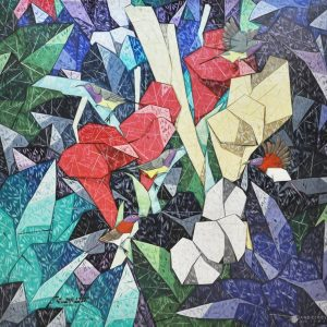 Code: 19971 Title: Sunbirds Size: 48x48 in Medium: Oil on Canvas