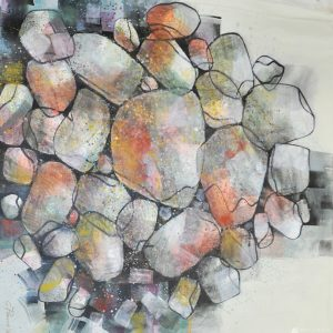 Code: 19984 Title: Rock Series Size: 48x48 in Medium: Acrylic on Canvas