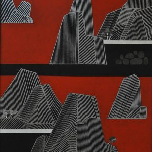 Title: Mountain Series Size: 40 inches x 30 inches Medium: Mixed Media on Canvas