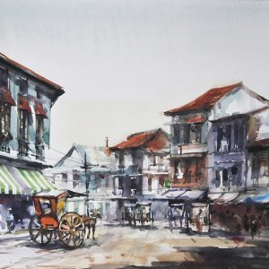 Code: 20072 Title: Binondo Scene Size: 11x17in Medium: Watercolor on Paper