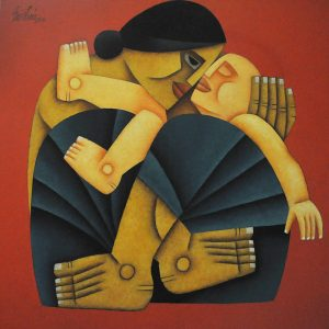 Code: 20101 Title: Mother and Child Size: 30x30in Medium: OC