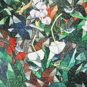 Code: 20161 Title: Wabler Birds Size: 48x72in Medium: Acrylic on Canvas