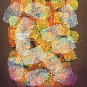 Art Code: 20777  Kaleidoscope Series  24 in x 18 in  Paper Collage  2018