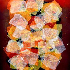 Art Code: 20775  Kaleidoscope Series II  24 in x 18 in  Paper Collage  2018