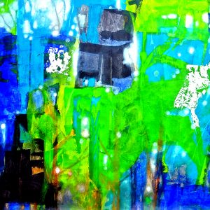 """Code: 21296 Title: """"Emerald"""" Size: 48x96in Medium: Acrylic and Oil on Canvas"""