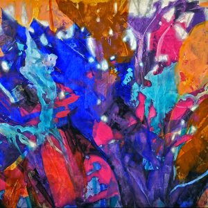 Code: 21295 Title: Butterfly Kisses Size: 48x95in Medium: Acrylic on Canvas