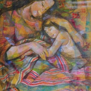 Code: 18471 Title: Mother and Child Medium: Pastel on Paper Dimension: 27 x 21 in