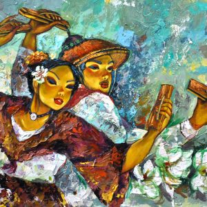 Code: 22636 Title: La Jota Manilena Size: 24 x 36 in Medium: Acrylic on Canvas