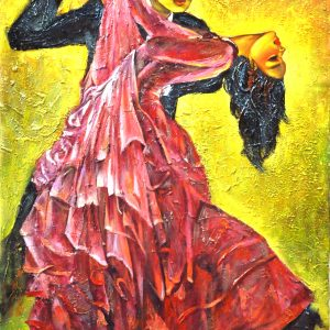 Code: DNC 007 Title: Dance of Passion Size: 36 x 24 in Medium: Acrylic on Canvas