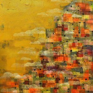 Code: PZR 001 Title :Urbanization Series Size: 60x36 1/2 Medium: Mixed Media on Canvas