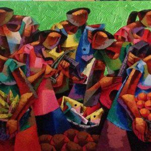Code: 16835 Title: Fruit Harvest Size: 36 x 60 inches Medium: Acrylic on canvas