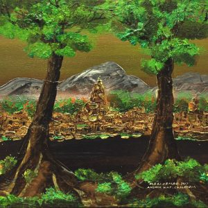 Ruins of the Monumental Kingdom of the Ancient Khmer Empire    18 in x 24 in    Acrylic on Canvas   2017