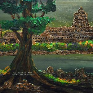 Glorious Testament of Magnificent Khmer Empire    18 in x 24 in    Acrylic on Canvas   2017