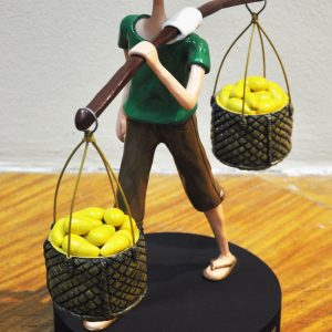 Code: 19713 Title: Mango Vendor Size: 16x14x8in Medium: Sculpture