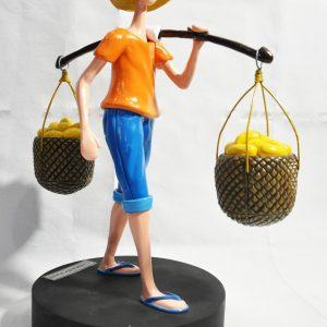 Code: 21838 Title: Mango Vendor Size: L=8 W=12 H=15.5 Medium: Epoxy and Metal on Wood Base