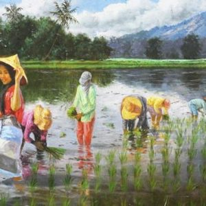 "#18553 ""Rice Planting"" 