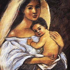 Code:15065 Title:Mother and Child Size:14.5x11 Medium:PP