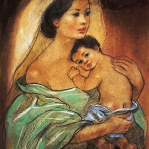Code:17489 Title:Mother and Child Size:14.5x11 Medium:PP