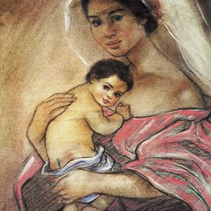 Code:17720 Title:Mother and Child Size:14.5x11 Medium:PP