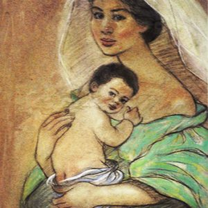 Code:17721 Title:Mother and Child Size:14.5x11 Medium:PP