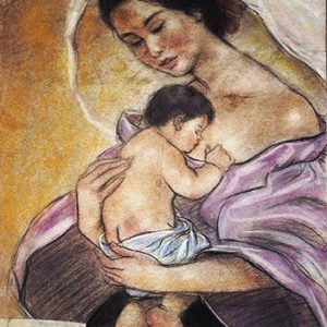 Code:17722 Title:Mother and Child Size:14.5x11 Medium:PP