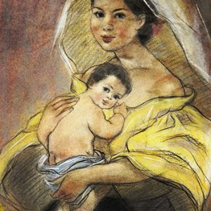 Code:18155 Title:Mother and Child Size:14.5x11 Medium:PP