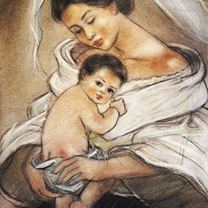 Code:18157 Title:Mother and Child Size:14.5x11 Medium:PP