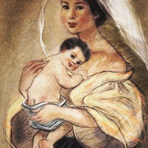 Code:18158 Title:Mother and Child Size:14.5x11 Medium:PP