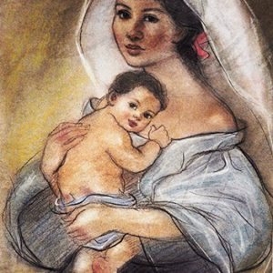 Code:18162 Title:Mother and Child Size:14.5x11 Medium:PP