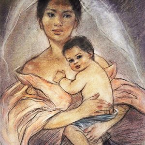 Code:18163 Title:Mother and Child Size:14.5x11 Medium:PP
