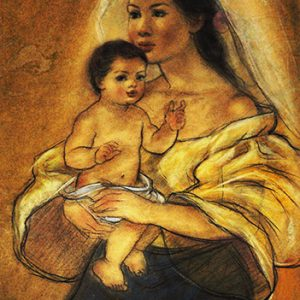 Code:18433 Title:Mother and Child Size:14.5x11 Medium:PP