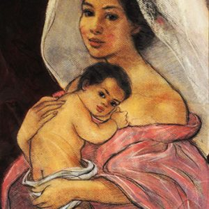 Code:18434 Title:Mother and Child Size:14.5x11 Medium:PP