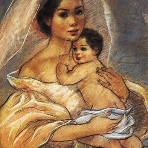 Code:18435 Title:Mother and Child Size:14.5x11 Medium:PP