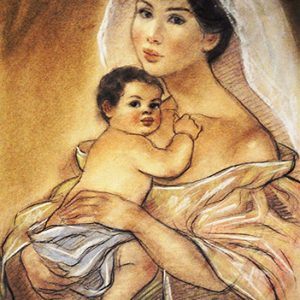 Code:18437 Title:Mother and Child Size:14.5x11 Medium:PP