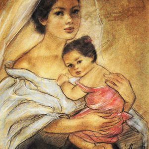 Code:18438 Title:Mother and Child Size:14.5x11 Medium:PP