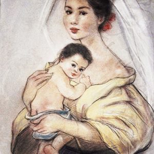 Code:18439 Title:Mother and Child Size:14.5x11 Medium:PP
